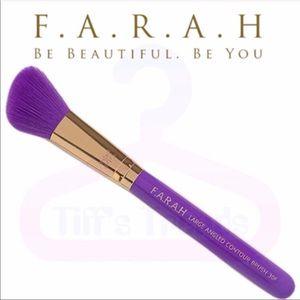 F.A.R.A.H. Purple Large angled contour brush